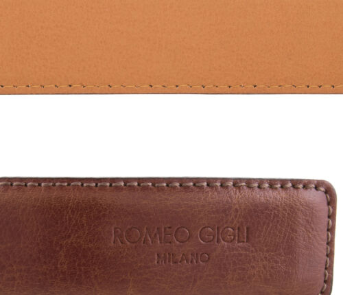 Romeo Gigli U284//35 TOBACCO Tan Leather Adjustable Belt