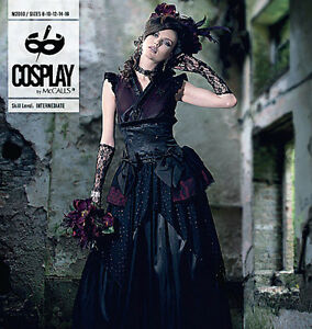 McCALLS-Sewing-Pattern-2050-COSPLAY-BELLE-NOIR-Top-Overskirt-NEW-Misses-8-16