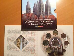 Belgie-BU-set-2009-Kathedraal-van-Doornik-1-ct-t-m-2-euro-8-munten-penning