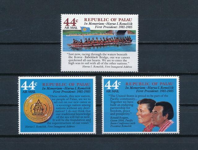 Palau C14-16 MNH, In Memoriam, 1986