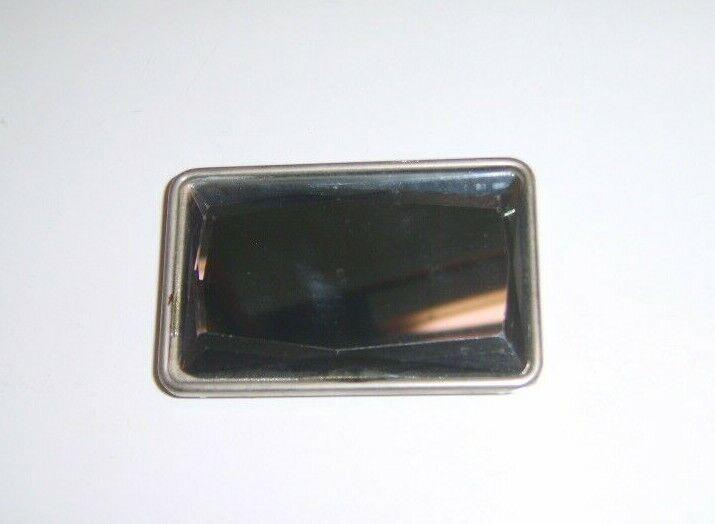 Dark Grey Opaque Smokey Jewel Glass Decorative Dress Top Buckle Used