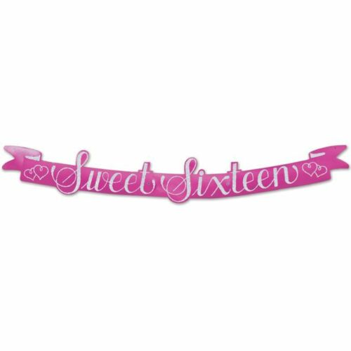 Sweet 16th Birthday Streamer