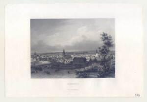 Wuppertal-Elberfeld-Stahlstich-aus-BI-Prachtausgabe-um-1850