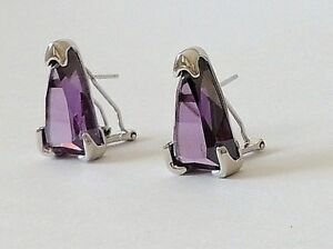925-STERLING-SILVER-PURPLE-AMETHYST-HOOK-EARRINGS