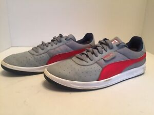 Details about Puma G. Vilas Mens Gray Red White Tennis Shoes Size 10.5
