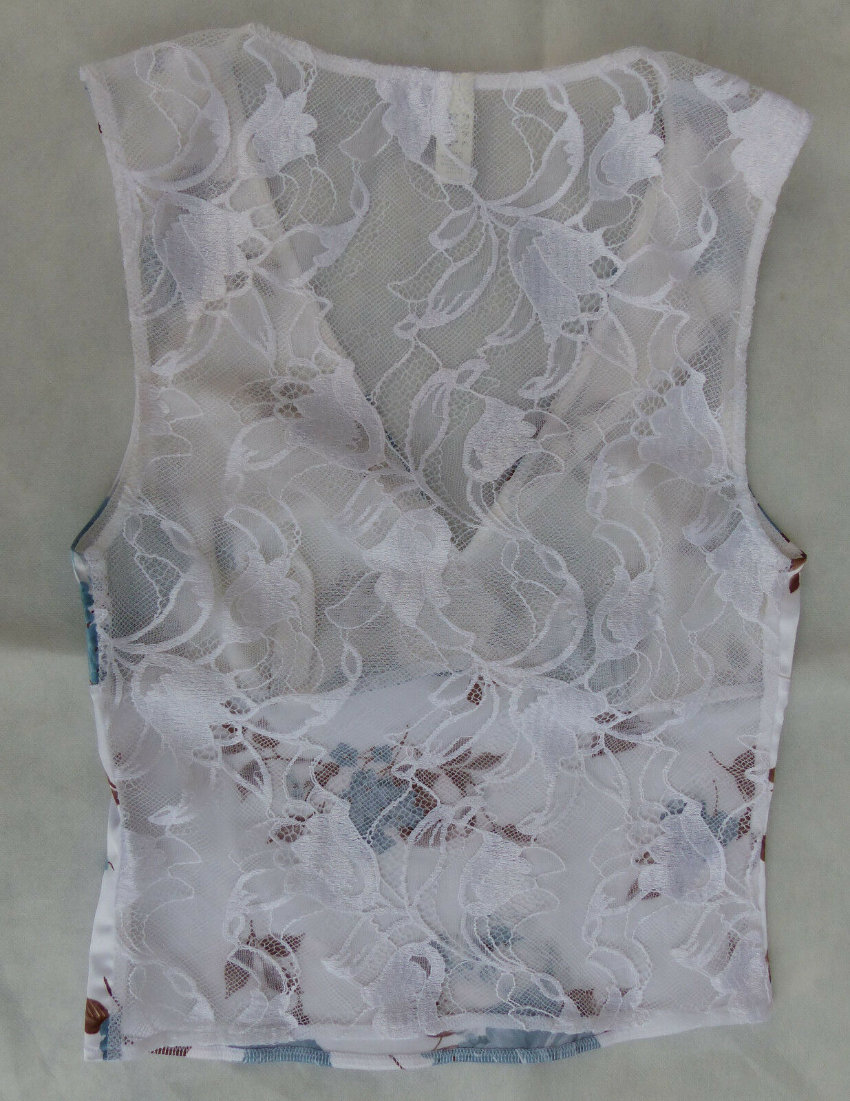 La Perla Top Smanicato con Pizzo, Pizzo, Pizzo, Tg. 34, Bianca Blu Marronee, indossato poco, MERCE NUOVA c158e5