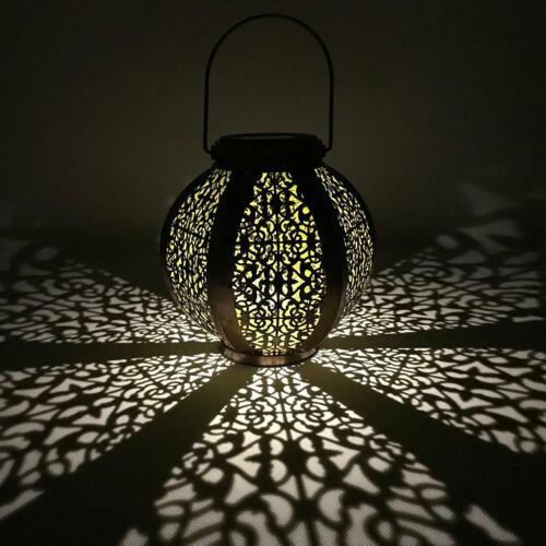 LED Solar Laterne Außen Wasserfest Wandbehang Lampe Dekor Garten Terrasse Yards