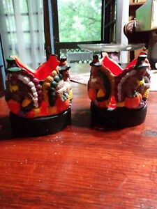 Vintage-Set-Of-2-Thanksgiving-Turkey-Candle-Holders