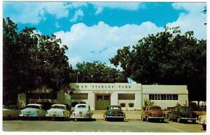 Max-Starcke-Park-Seguin-Texas-near-Guadalupe-River-Cars-1950s-Pecan-trees