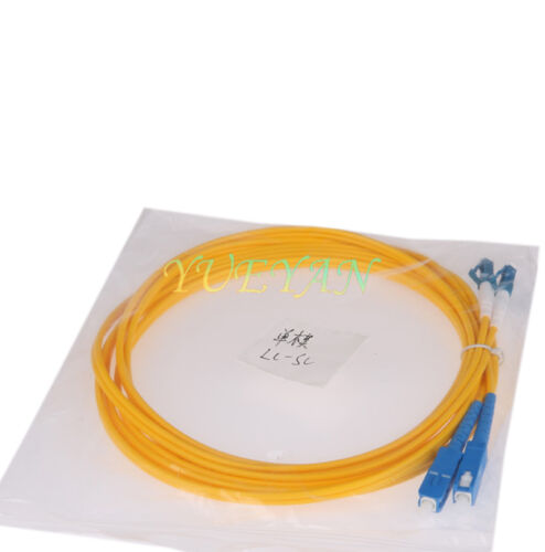 3 M LC to SC Fiber Optic Patch Cord Jumper Cable Single Mode Duplex 9//125  2.0mm