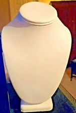 Necklace Display Bust White Leatherette 9 Tall New