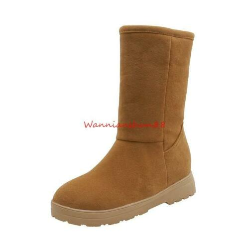Details about  /Women warm Snow Boots Round toe High top Riding Ankle Boots Casual Comfort Shoes