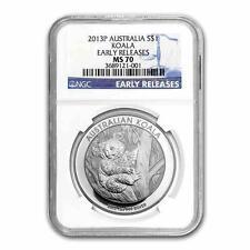 New 2013P Australian Silver Koala 1oz Early Releases NGC MS70 Graded Slab Coin