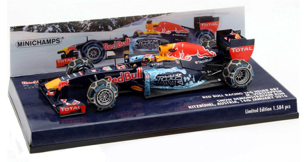 Minichamps Red Bull RB7 Snow Demo Run Kitzbuhel 2016 Max Verstappen  1 43 Scale