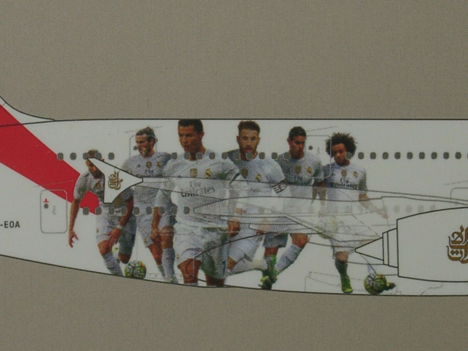 HERPA WINGS Airbus a380-800 EMIRATES  REAL MADRID  - 529242 - 1 500