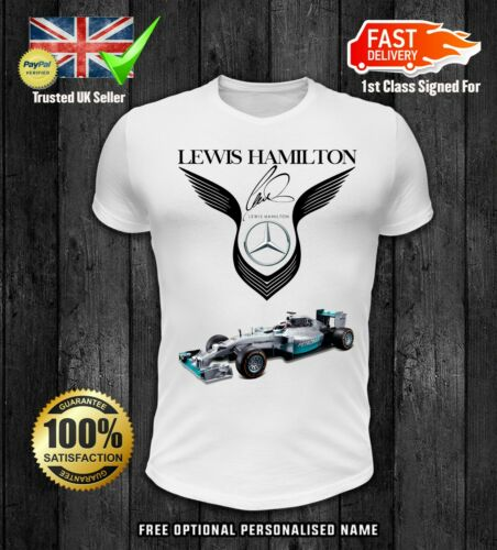 Lewis Hamilton AMG T Shirt MERCEDES BENZ F1 Merc Petronas Kids Motorsport Garçons 3