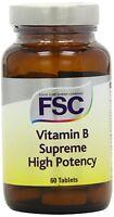 FSC Vitamin B Supreme High Potency 60 Tablets *BUY 1 GET 1 FREE*