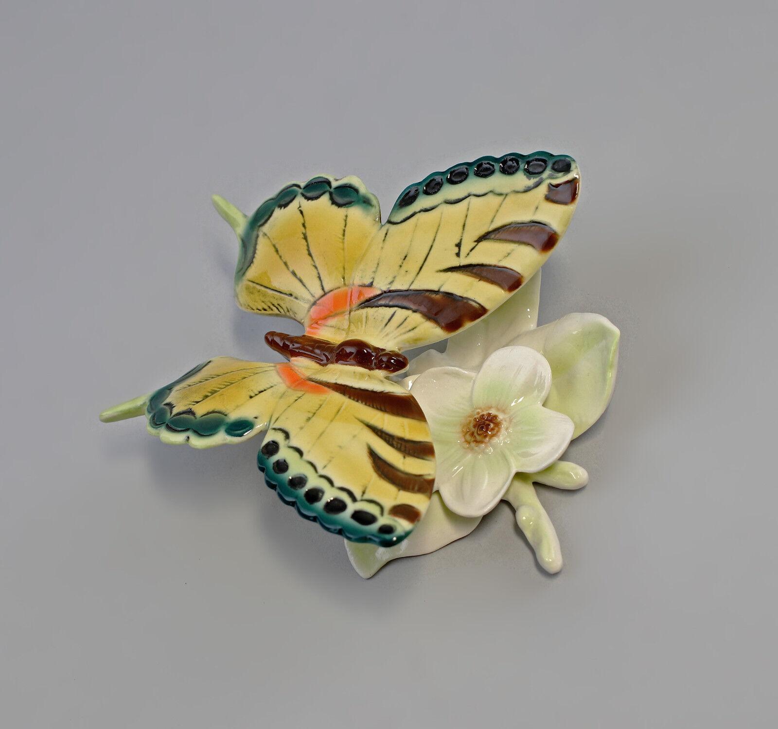 9941933 ens porcelana figura 10x11cm mariposa floración verde 10x11cm figura 7f806d