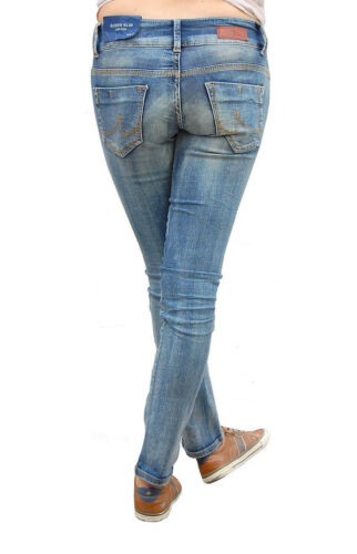LTB Jeans Molly W27-W30 L30 NEU Damen Skinny Hose Blau Used Stretch Denim Slim