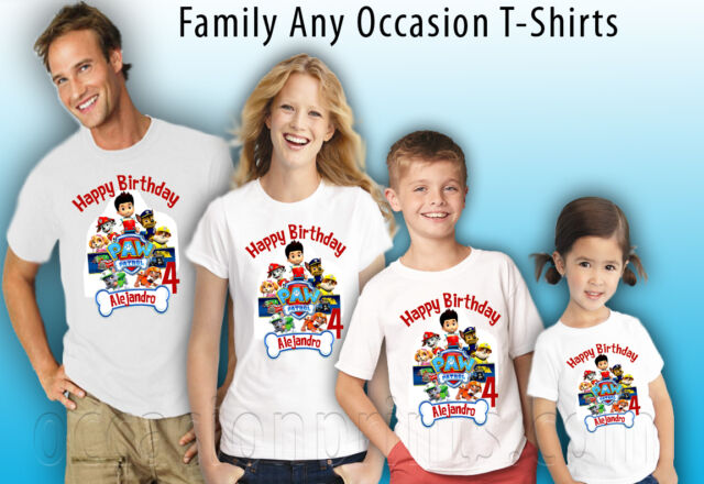 PERSONALIZED CUSTOM PAW PATROL BIRTHDAY SHIRT ADD NAME AGE FAMILY GIFT
