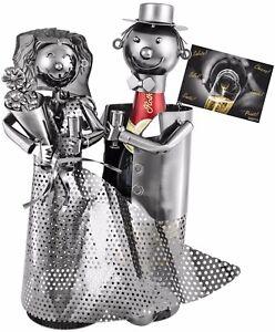 Brubaker Sekt Champagner Flaschenhalter Brautpaar Grusskarte