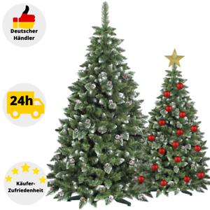 Kuenstlicher-Weihnachtsbaum-Kunstbaum-Tannenbaum-180-220cm-Christbaum-Schnee-Deko