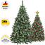 Kuenstlicher-Weihnachtsbaum-Kunstbaum-Tannenbaum-180-220cm-Christbaum-Schnee-Deko Indexbild 1