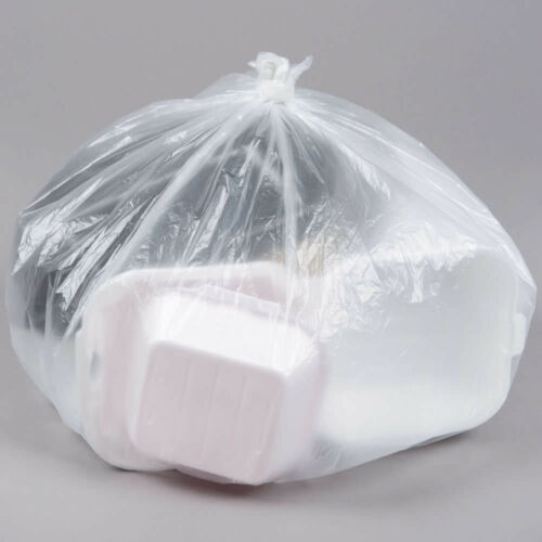 """7-10 Gallon 24/"""" x 24/"""" High Density Resin Can Liner 1000-Pack Trash Bags"""