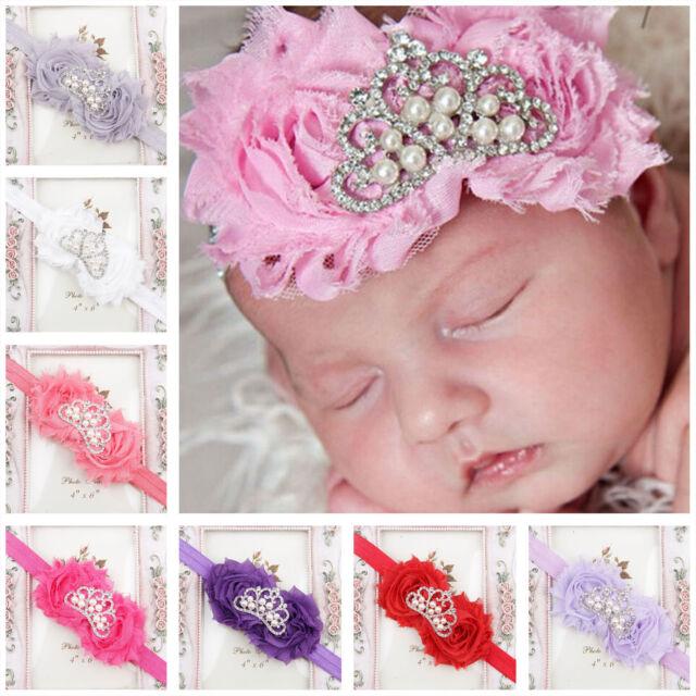 NEWLY Fashion  Baby Girl Crown Flower Headband Newborn Hairband Toddler Headband