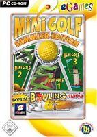 Pc Computer Spiel Mini Golf Sammler-edition + Bowling Mania Neunew
