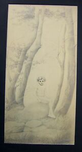 PRINTS-SILVER-POINT-FAIRY-IN-A-WOOD-CHARLES-SAINTON-PUB-BROOK-ST-GALLY-C1912