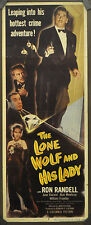 THE LONE WOLF AND HIS LADY 1949 ORIG 14X36 MOVIE POSTER RON RANDELL JUNE VINCENT