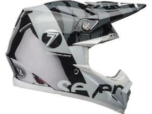 Casque-Motocross-BELL-Moto-9-Flex-Seven-zone-Gloss-Noir-Blanc-Chrome