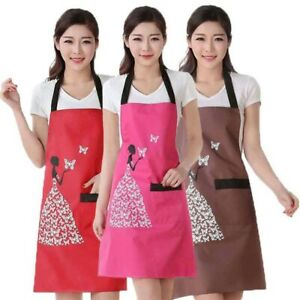 Waterproof-Polyester-Apron-Woman-Adult-Bibs-Home-Cooking-Baking-Coffee-Apron-P