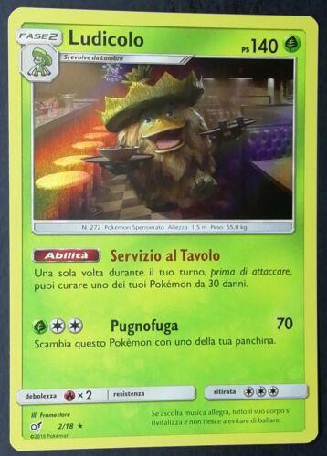 LUDICOLO 2//18 Rara Holo Foil in Italiano POKEMON Detective Pikachu