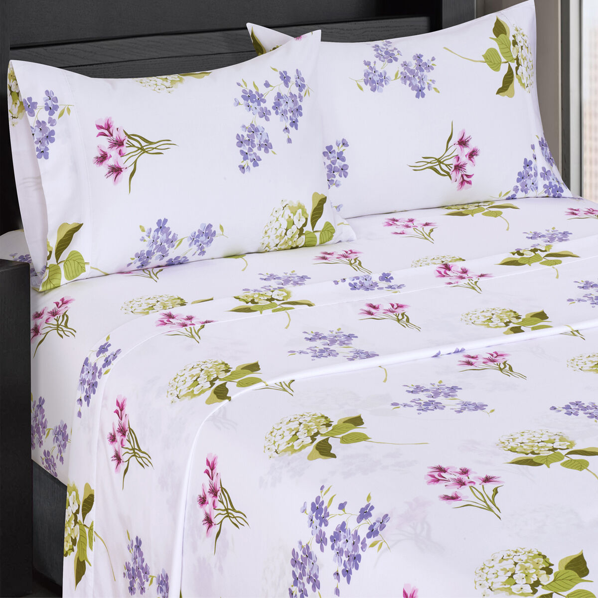 Blossom 300 Thread Count Floral Sheets 100% Cotton Flower Print Bed Sheet Sets