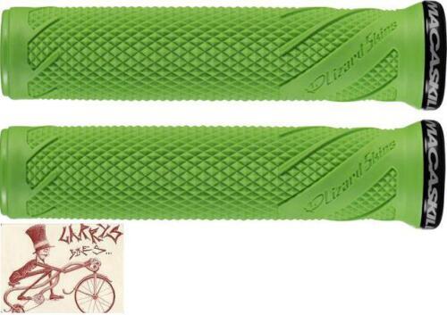 LIZARD SKINS DANNY MACASKILL LOCK-ON LIME GREEN BICYCLE GRIPS