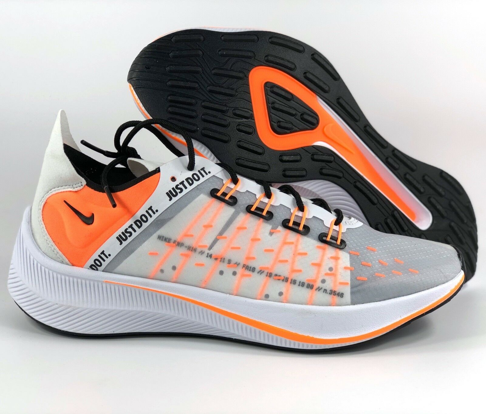 Nike EXP-X14 SE Just Do It White Total orange Black AO3095-100 Men's 8