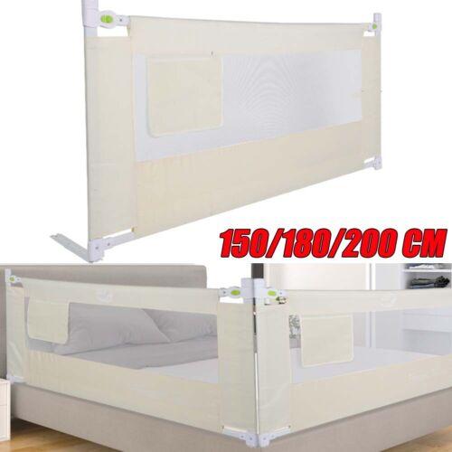 Kids Bed Guard Toddler Safety Children Bedguard Folding Metal Rail 150//180//200cm