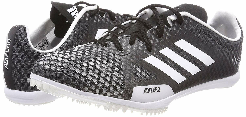Mujer Adidas Adizero ambición 4 IV Zapatos Botines de Sprint Púas de pista Negro blancoo