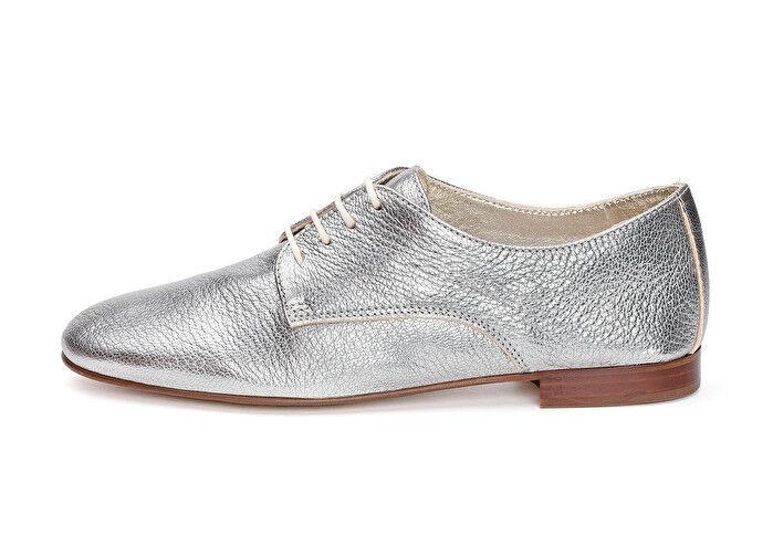 newest bc043 97d31 FRAU 93L4 scarpa donna allacciata pelle laminata acciaio 100 ...