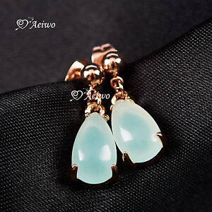 18K-ROSE-GOLD-GF-TEAR-DROP-JADE-STUD-EARRINGS