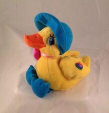 "Vintage Lisa Frank Bonnie The Duck Plush Animal Chick Bonnet Yellow 8"""