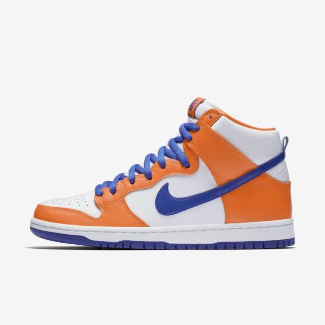 best website ddbb9 6ea0b Men's Nike SB Dunk High TRD QS Shoes Orange White Blue Size 10 AH0471 841  NIB