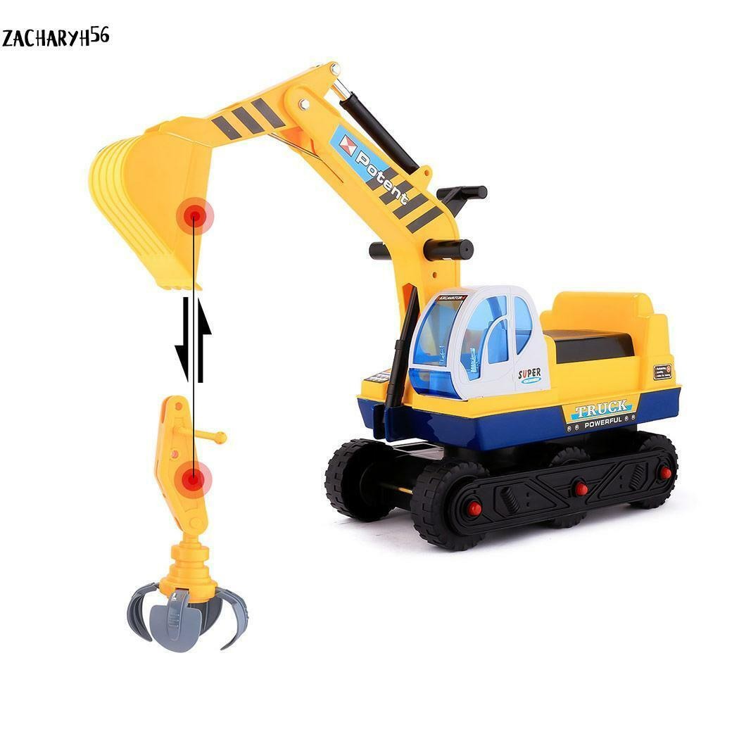 2 in 1 Sitzbagger Kinderbagger Rutscher Bagger Rutschauto Sandkasten 02