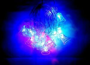 Rgb Led Christmas Lights.Details About Rgb Led Christmas Xmas Tree Lights Decoration 20 Bulb Lights Bell 4 Meters