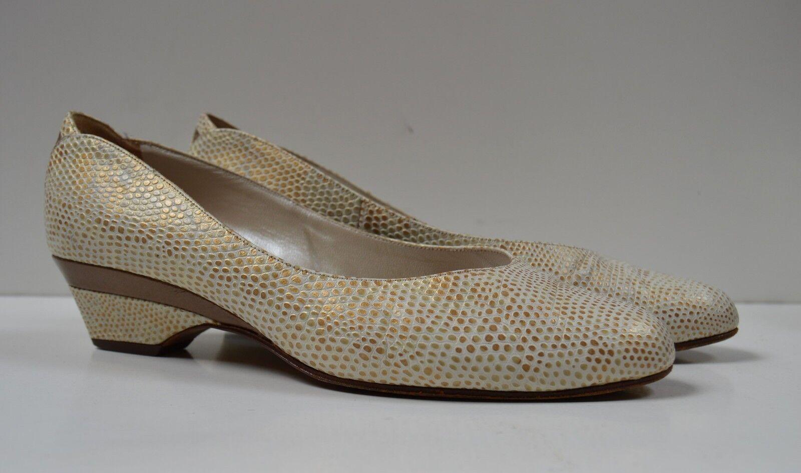 Peter Germany Kaiser Damen Pumps Ballerinas made in Germany Peter True Vintage gold perlmutt 23f24b