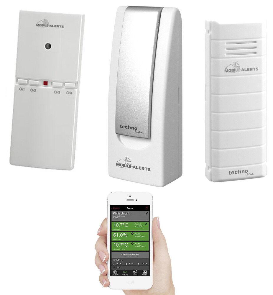 Technoline rauchmelderset mobile alertes Maison-surveillance-Set avec portable Avertissement