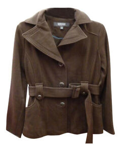 Ladies-Kenneth-Cole-Belted-Jacket-Womens-Reaction-Belt-Small