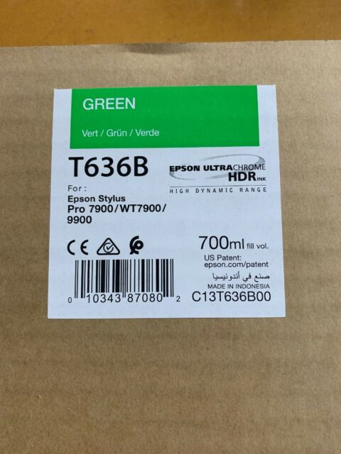 Epson C13T636B00 UltraChrome HDR Ink Cartridge Original Green 700 ml